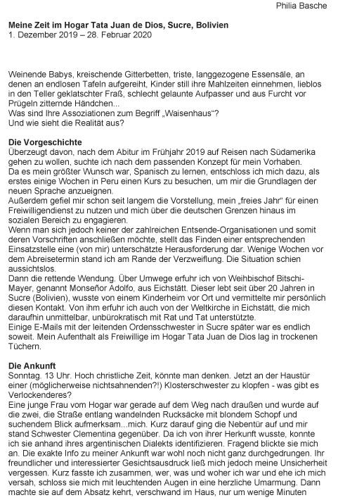 Philia Basche - Bericht-1
